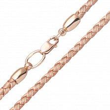 Золотистый шнурок Кардиш с гладкой золотой застежкой, 3мм