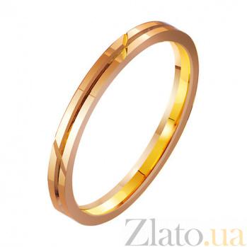 Золотое обручальное кольцо Желание TRF--4111283
