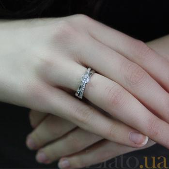 Кольцо из белого золота с фианитами Мадлен 000023142