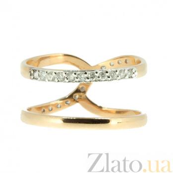 Золотое кольцо в красном цвете с бриллиантами Гритель 000021421