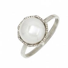 Серебряное кольцо с жемчугом Василиса