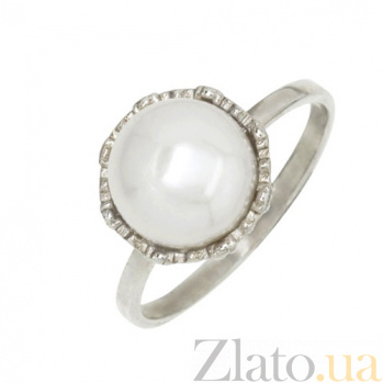 Серебряное кольцо с жемчугом Василиса BGS--453к