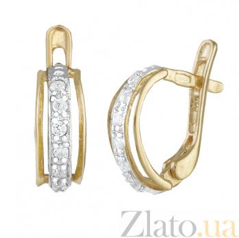 Серьги из серебра с цирконием High Fashion 000024570