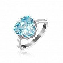 Кольцо из серебра Альфинур с голубым фианитом