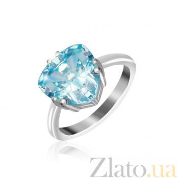 Кольцо из серебра с фианитом Фрида 000025463