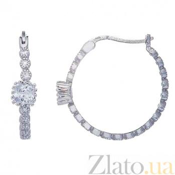 Серьги-кольца серебряные AQA--XJT-0123-E-S