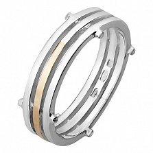 Серебряное кольцо с золотой вставкой Винслоу