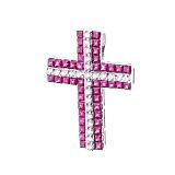 Золотой крестик Марселлет с рубинами и бриллиантами