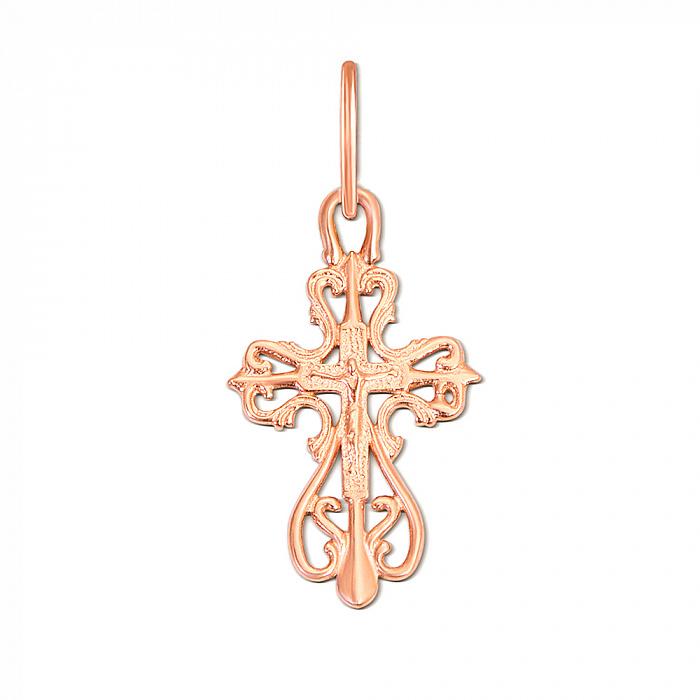 Крестик из красного золота Божественное Благословение 000056925 000056925
