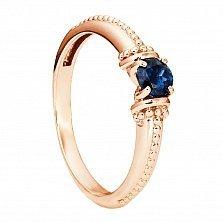 Кольцо из красного золота Ивори с сапфиром