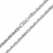 Цепь из серебра Монреаль с родием, 5 мм