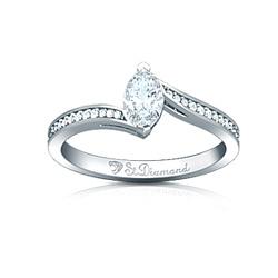 Золотое кольцо с аквамарином и бриллиантами Островок счастья