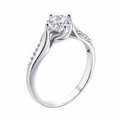 Серебряное кольцо с фианитами 000133160