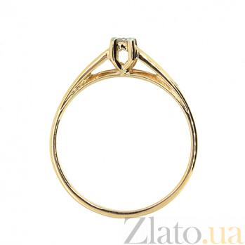 Кольцо из красного золота Намия с бриллиантом 000021440