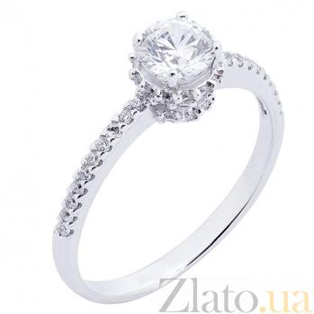 Кольцо из белого золота с фианитами Истинная любовь 000023193