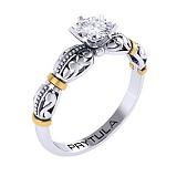 Золотое помолвочное кольцо Босанова с бриллиантом