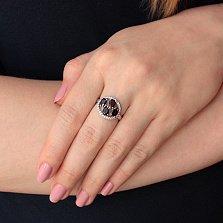 Серебряное кольцо Надежда с гранатами и фианитами