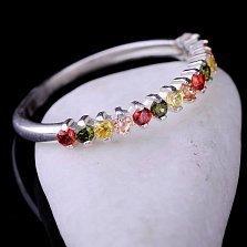Серебряное кольцо Конфетти с фианитами