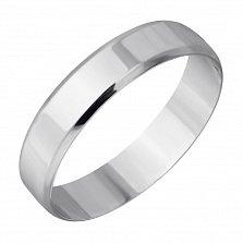 Золотое обручальное кольцо Бесконечная любовь в белом цвете