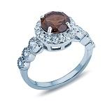 Кольцо серебряное с раухтопазом Гвинэт