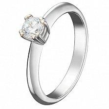 Кольцо в белом золоте Джина с бриллиантом