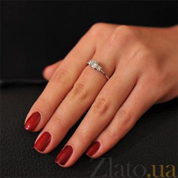 Кольцо из белого золота  с бриллиантами Ясмин EDM--КД7519/1