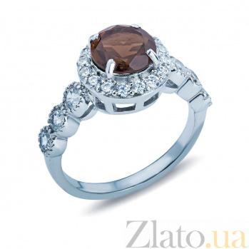 Кольцо серебряное с раухтопазом Гвинэт AQA--R00967RT