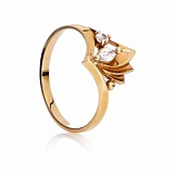Золотое кольцо с цирконием Исида