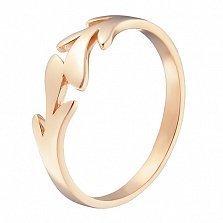 Кольцо в красном золоте Пальмовая ветвь