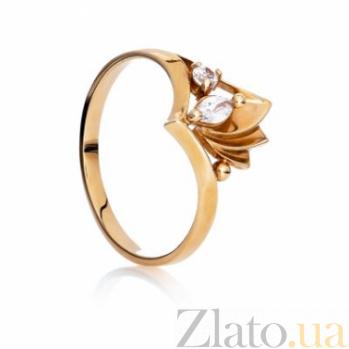 Золотое кольцо с цирконием Исида 000030611