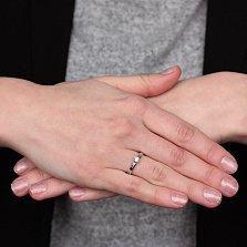 Золотое кольцо Цветочная принцесса с бриллиантом
