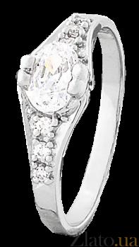 Кольцо из серебра с цирконием Аделхайд 000025804