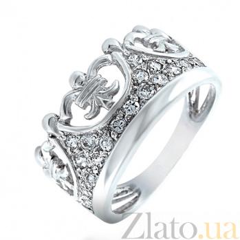 Серебряное кольцо Корона 100331
