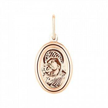 Ладанка из красного золота Божия Матерь 000141359