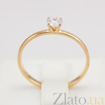 Золотое кольцо с фианитом Магия души 000024346