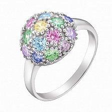 Серебряное кольцо Микс с фианитами