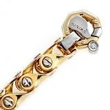 Золотая массивная цепь с бриллиантом Бирмингем