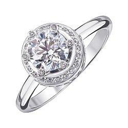 Кольцо из белого золота с бриллиантами 000147922