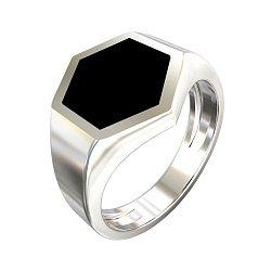 Перстень-печатка из серебра с имитацией оникса 000062143