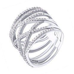 Серебряное кольцо Деви с фианитами 000051839