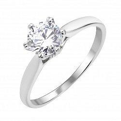 Серебряное кольцо с кристаллом циркония 000112675