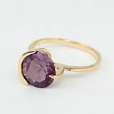 Золотое кольцо Клэр с александритом