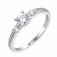 Серебряное кольцо Триша с фианитами