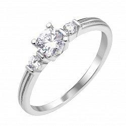 Серебряное кольцо с фианитами 000112716
