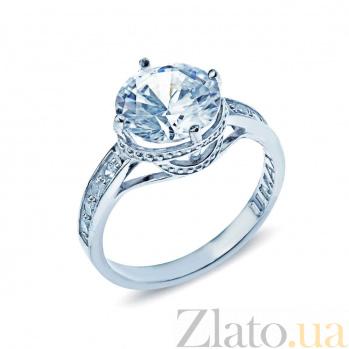 Серебряное кольцо с фианитами Ариадна 000026977