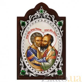Серебряная икона на дереве Апостолы Петр и Павел 2.78.0661