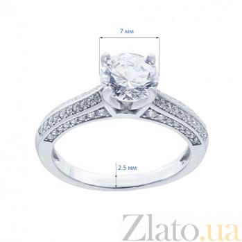 Серебряное кольцо на помолвку Антуанетта AQA--RJ2841