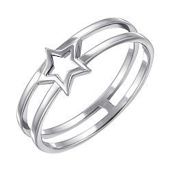 Серебряное двойное кольцо 000123096
