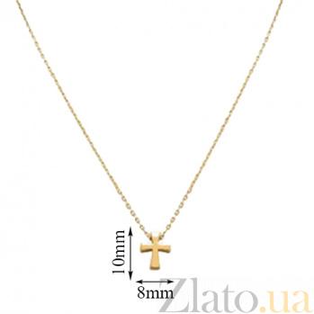 Колье из желтого золота Крестик 000023857