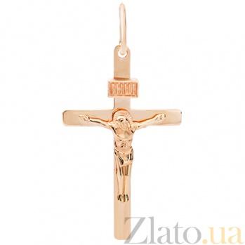 Крестик из красного золота Спаси и сохрани HUF--115-ИН НВ